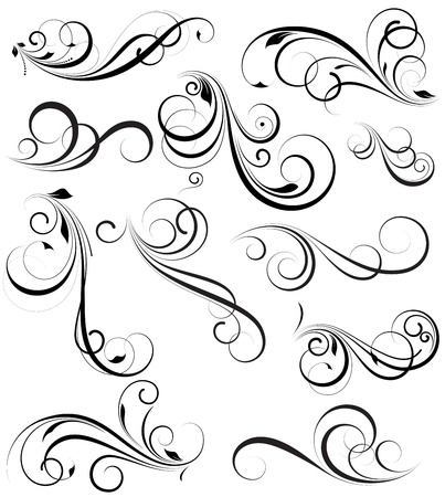 Swirly Vectors Design Elements Vector