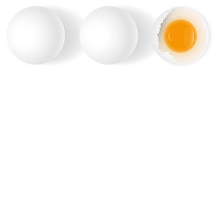 White Eggs Background Vector