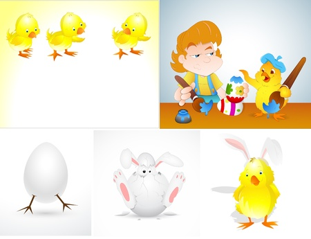Easter Vector Illustrations Stock Vector - 15244893