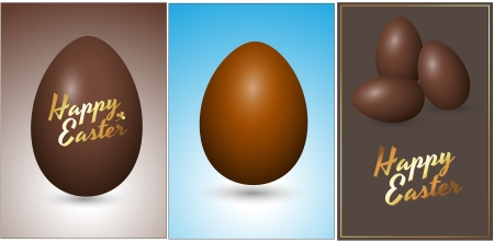 Easter Chocolate Eggs Vectors Vector