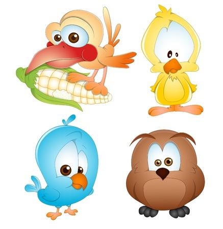 Nette Vögel Vektoren