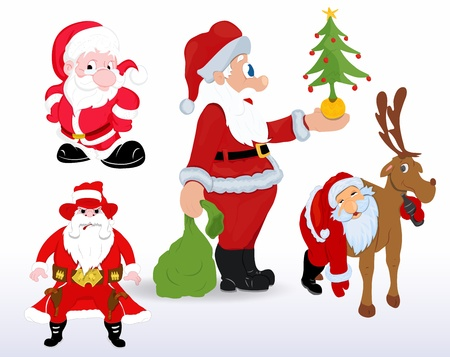 Santa Vectors for Christmas Vector