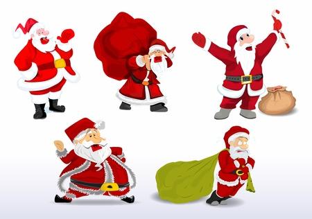 christian festival: Cartoon Santa Vector Illustration