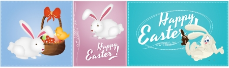 Happy Easter Vector Backgrounds Vector