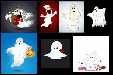 Halloween Ghosts Vectors Vector