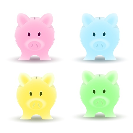 Piggy Bank Vector Vector