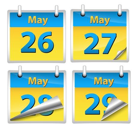 Calendars Vectors Stock Vector - 15245080