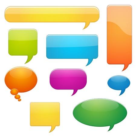 conversations: Callout Vettori Bubbles Vettoriali