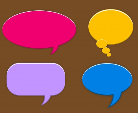 Speech Balloons Vectors Vector