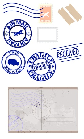 Stamps and Envelope Vectors Vector