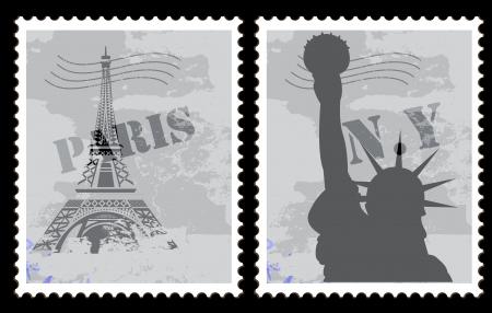 Tickets Vectors - Paris - NEWYORK Vector