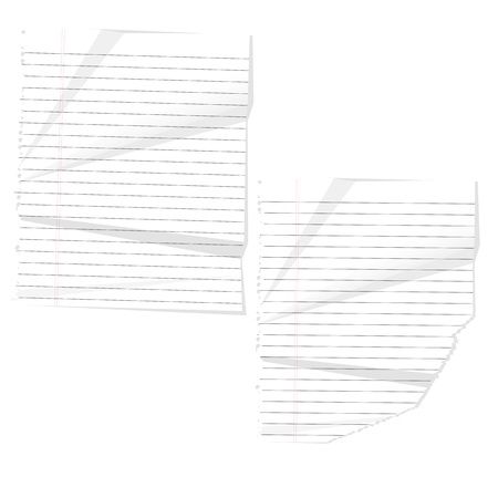 crushed: Crushed Paper Vector