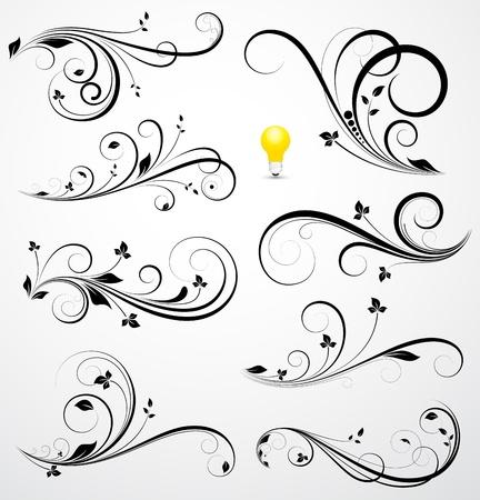 butterfly border: Swirls Vectors