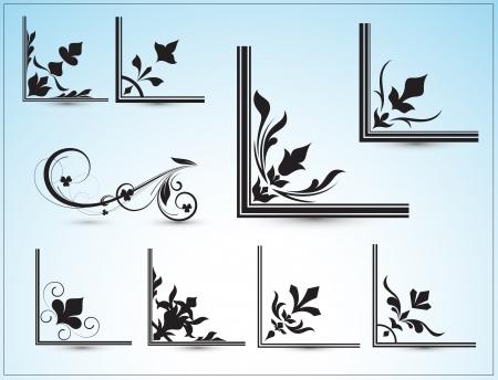 Corner Designs Vectors Vector