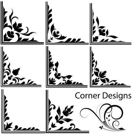 filigree swirl: Corner Vector Designs