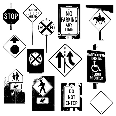 Traffic Signs Vectors Vector