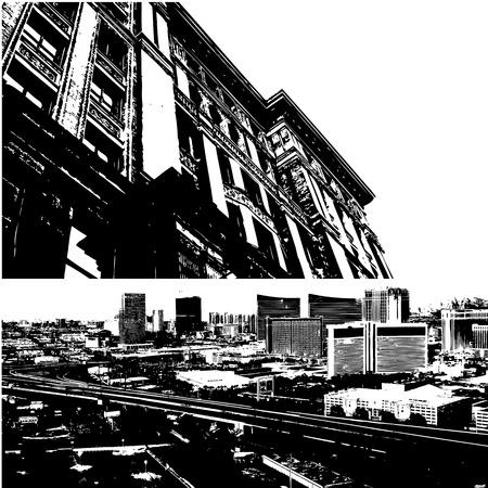 небоскребы: Городской Вид с воздуха Вектор
