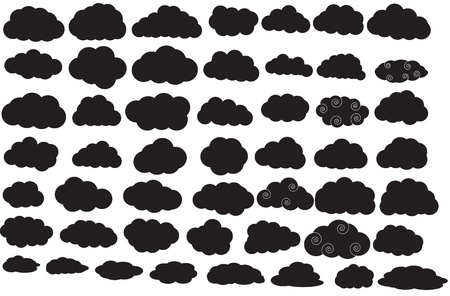 Clouds Silhouettes Vector