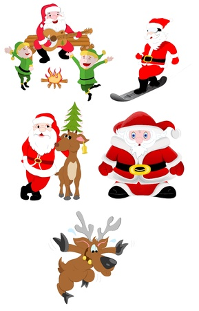 Christmas Santa Vector Illustrations Vector
