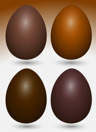 Chocolate Eggs Vectors Vector