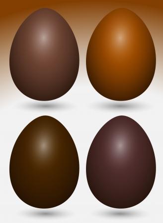 Chocolate Eggs Vectors