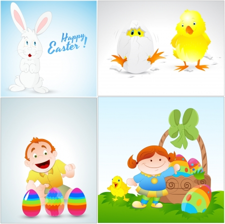Easter Vector Illustrations Vector
