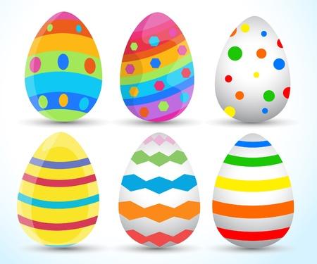 cartoon egg: Easter Eggs Vector