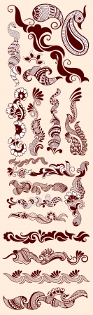 Mehandi Designs Vector