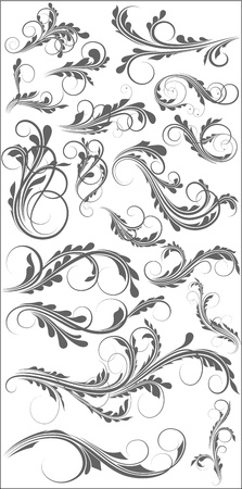 corner ornament: Swirls Designs