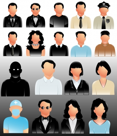 Profile People Icons Vectors photo