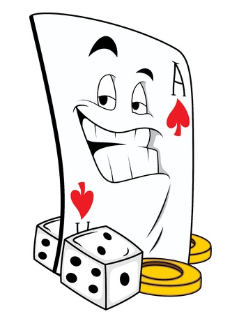 dices: Gamble Mascot Tattoo Vector