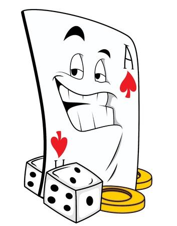 dices: Gamble Mascot Tattoo Vector
