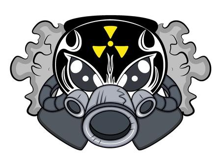 man close up: Toxic Mascot Tattoo Vector