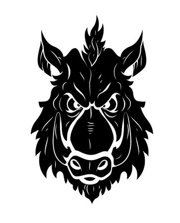 Wild Mascot Tattoo Vector Vector