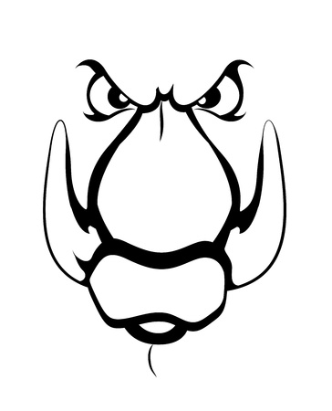 Mascot Tattoo Vector Vector