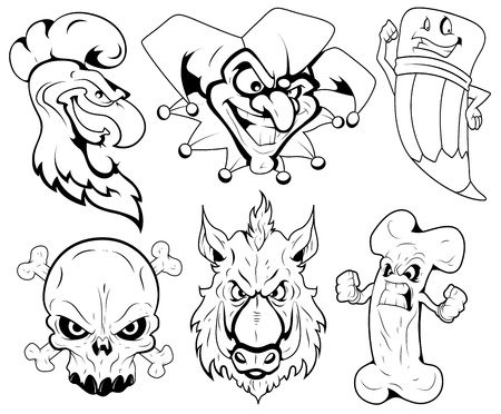 Angry Mascot Vector Tattoo