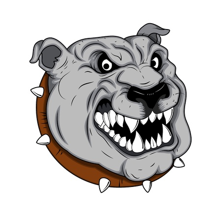 Mascota Bulldog Tattoo Vector