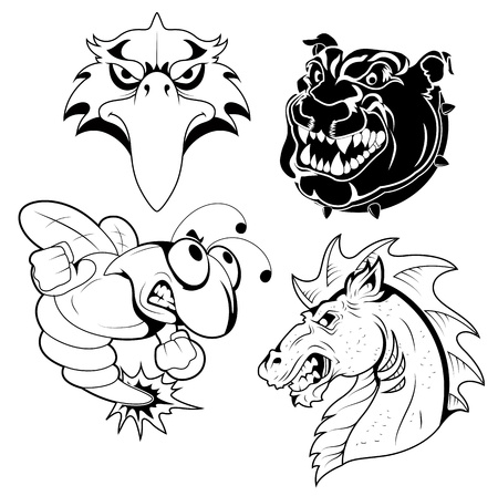 Tattoo Mascots Vector