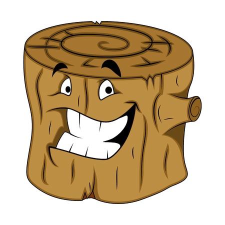 stub: Tree Stub Character Illustration