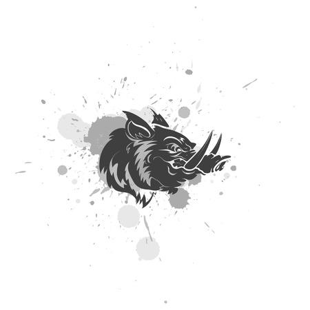 Angry Pig Mascot Vector Character Ilustração