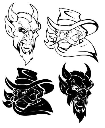 Evil Mascot Vector Character Stock Vector - 15759297