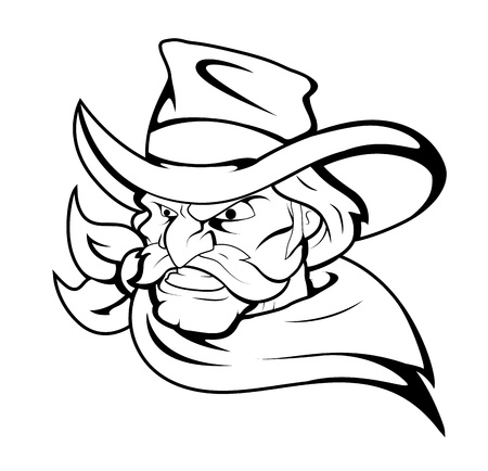 braqueur: Caract�re Vecteur Cowboy Mascot