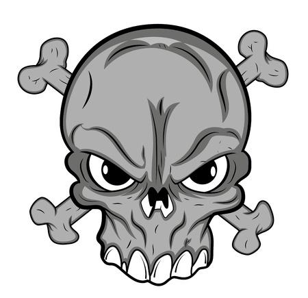 joker: Mascot Skull Tattoo Vector Vectores