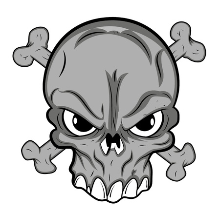 close up face: Skull Mascot Tattoo Vector