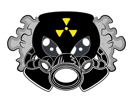 Gas Mask Mascot Tattoo Vector Vector