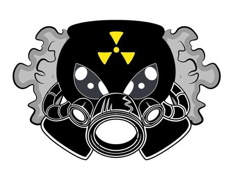 gas mask: Gas Mask Mascot Tattoo Vector
