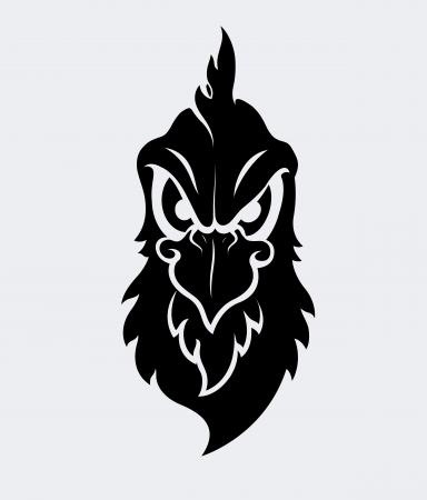 aggressive: Angry Bird Mascot Vector Character