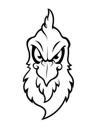 bad eyes: Bird Mascot Vector Character Illustration