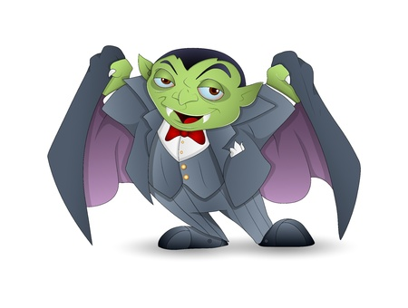 Cartoon Dracula Vector Vector