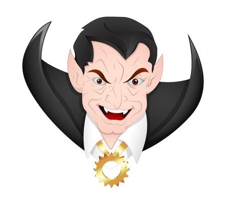 Classic Dracula Face Vector